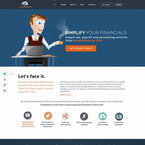 Landingpage for a  virtual accounting business