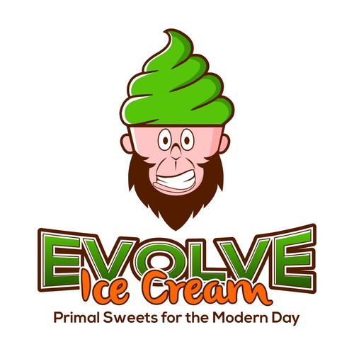 Create a logo for a paleo-centric ice cream startup!