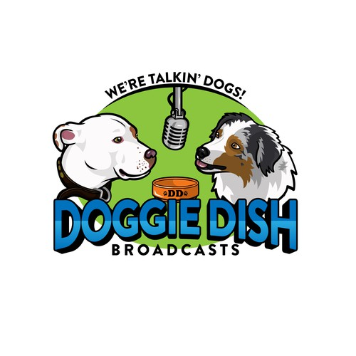 Logo for podcast and video series about dogs.