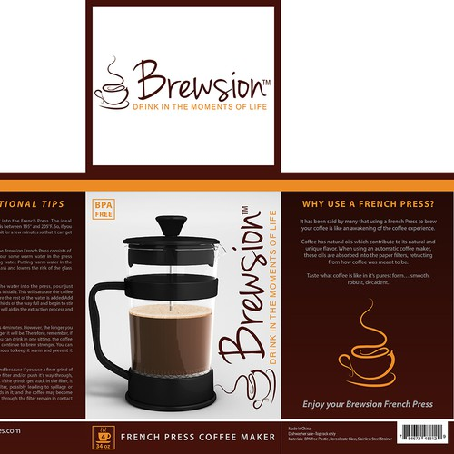 Package For Coffee French Press