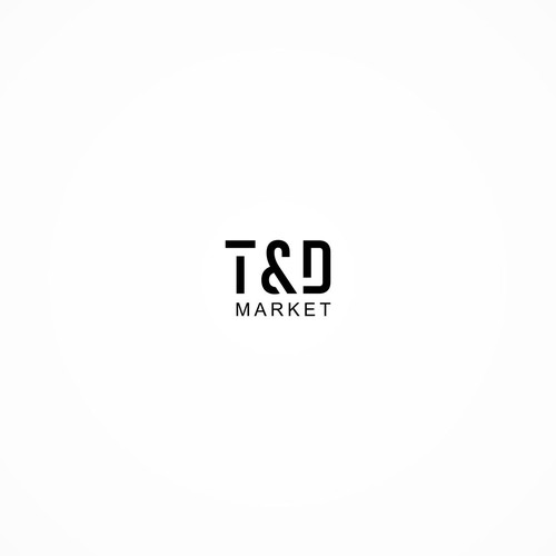 T & D simple clean market logo