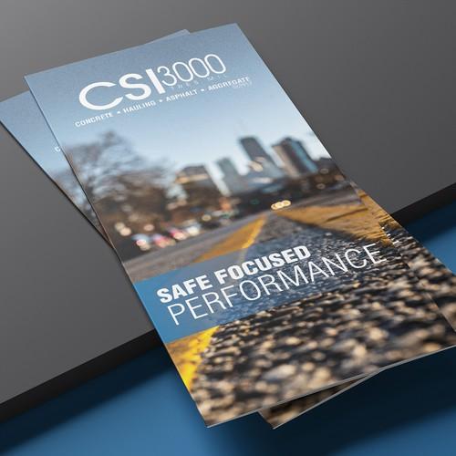 CSI3000 Tri-fold brochure