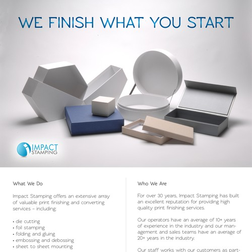 Email design for Impact Stamping