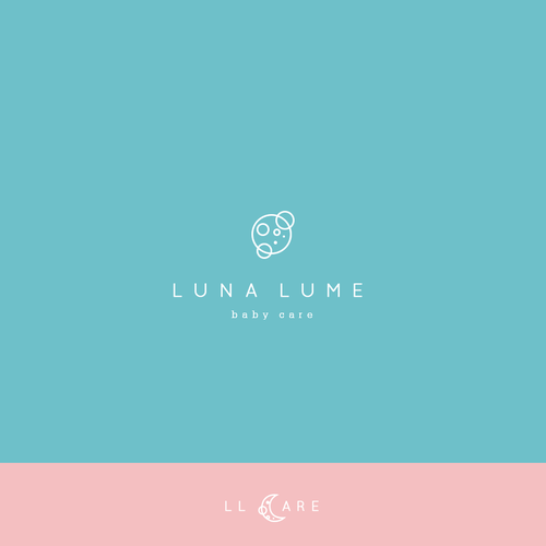 Create a modern and luxurious logo for Luna Lume