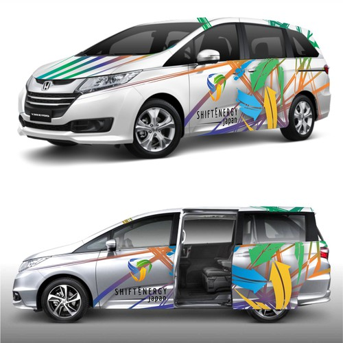 Vehicle wrap for Japanese energy company