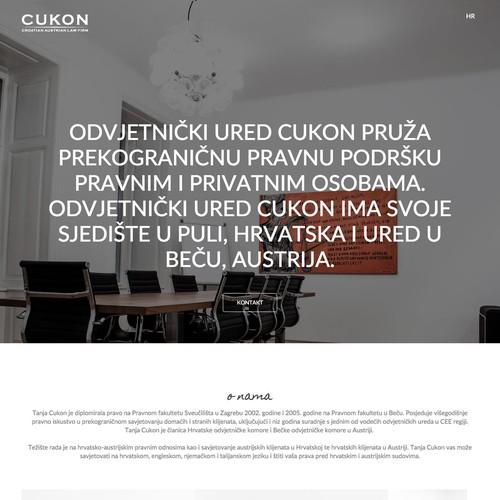 cukon.eu website design