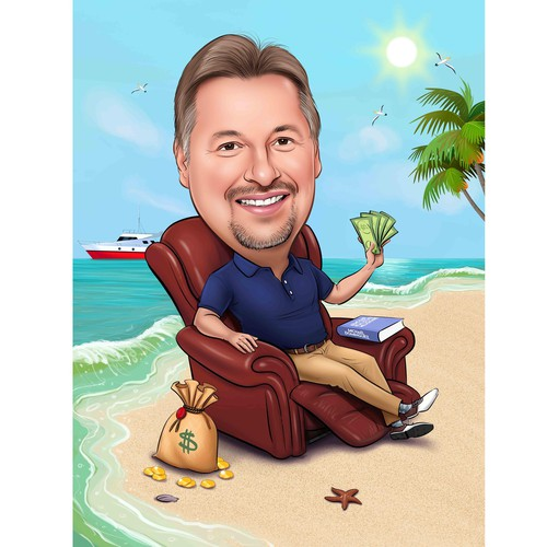 Caricature of Armchair Real Estate Millionaire