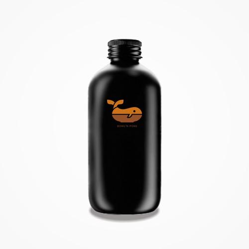 Bowl'n Poke Logo Design 2 on the bottle