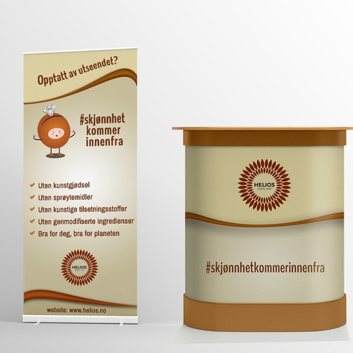 Roll up and reception table design