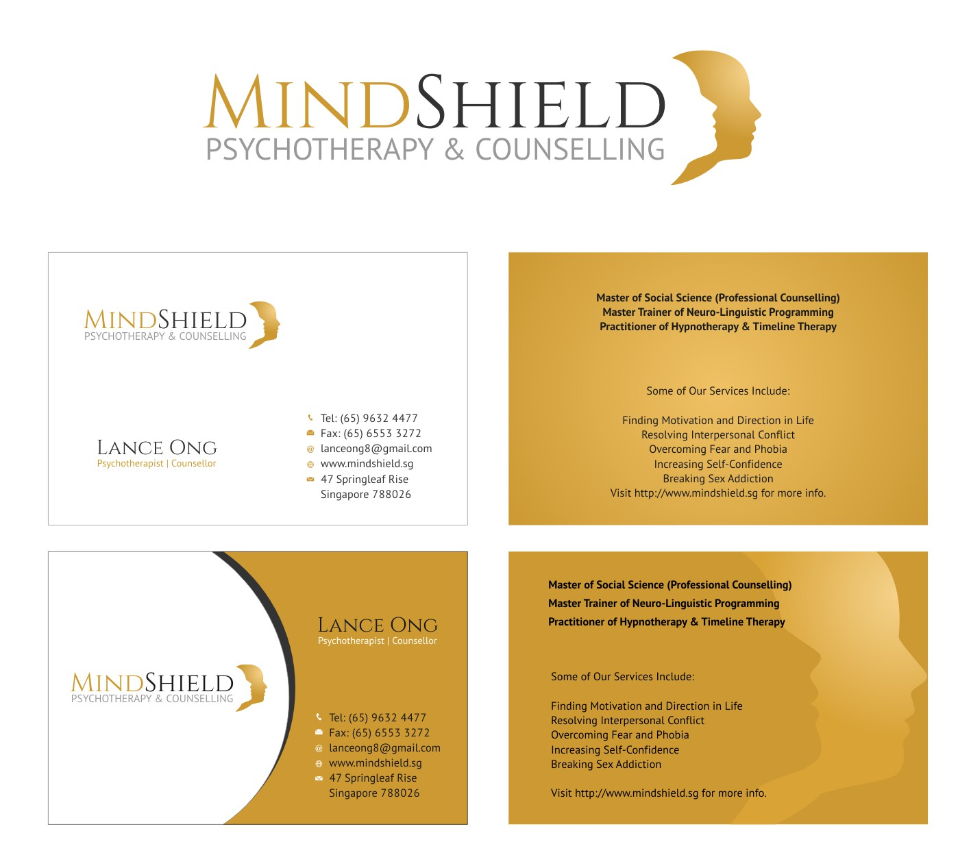 Mindshield – Psychotherapy & Counselling – Logo and Business Card