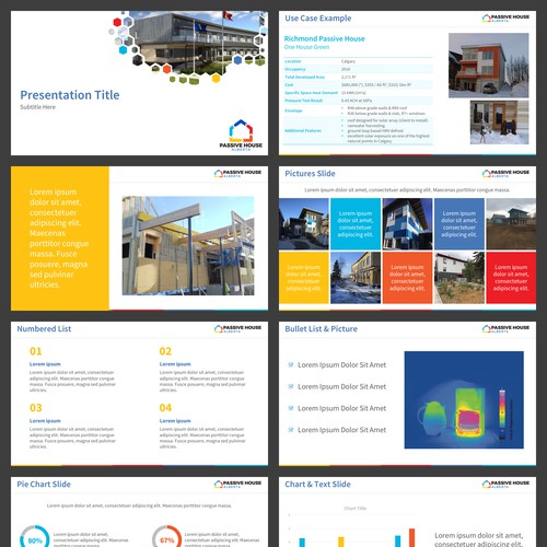 Branded PPT Template for a Passive House Non Profit