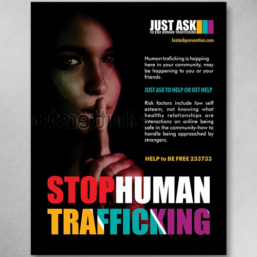 Poster aimed to Stop Human Trafficking