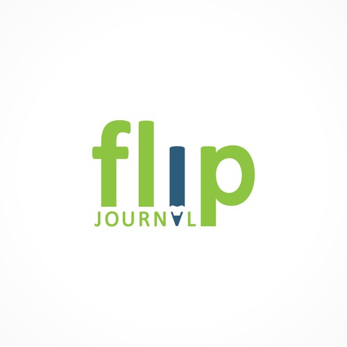 "A great logo for ""Flip Journal"" - to be published."