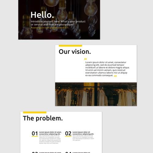 Bold Presentation Template for Startups