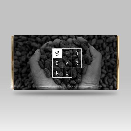 Design concept for Chocarré, a chocolate brand.