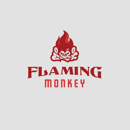 Flaming Monkey Logo Design