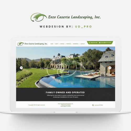 Website redesign for landscaping company