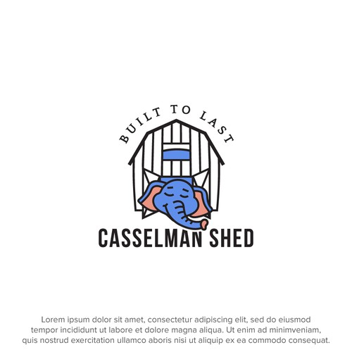 Logo concept for storage shed retail