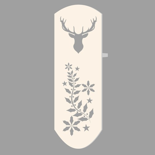 Create the featured graphics for our sleek and modern Christmas stocking holders!