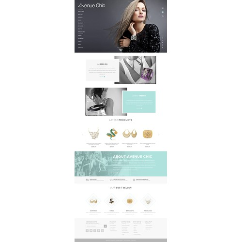 Aveneu Chic Website Designs