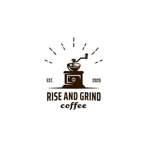 Rise & Grind Coffeehouse logo