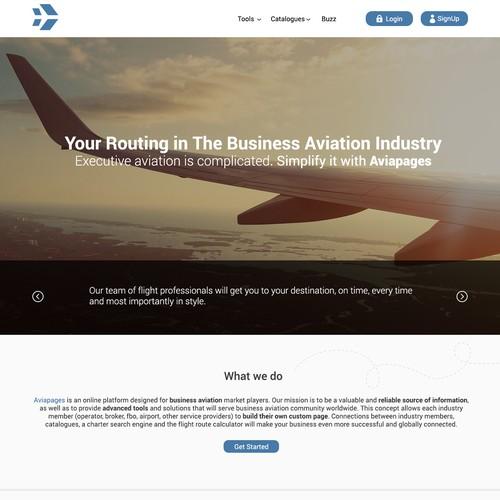 online platform for business aviation market