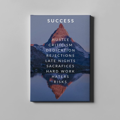 Success Canvas Print Design