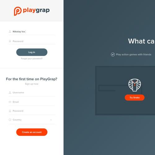 Webdesign for a revolutionary Game Community!