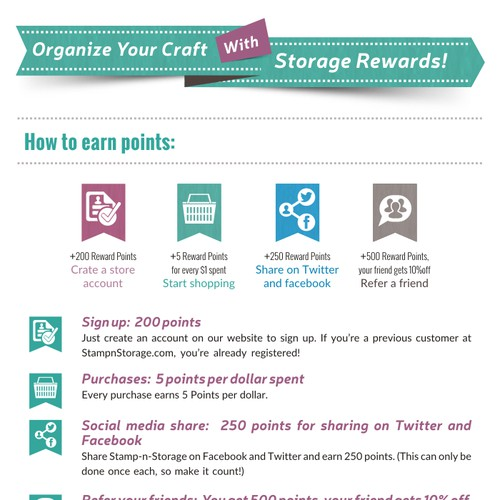 Craft Storage Rewards Landing Page!