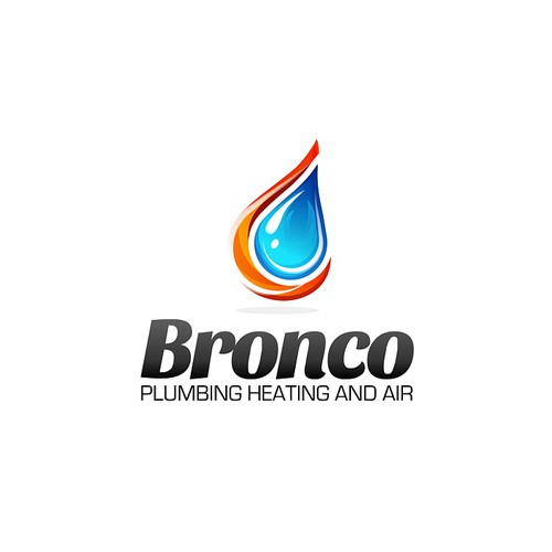 Create a winning design for Bronco Plumbing Heating and Air