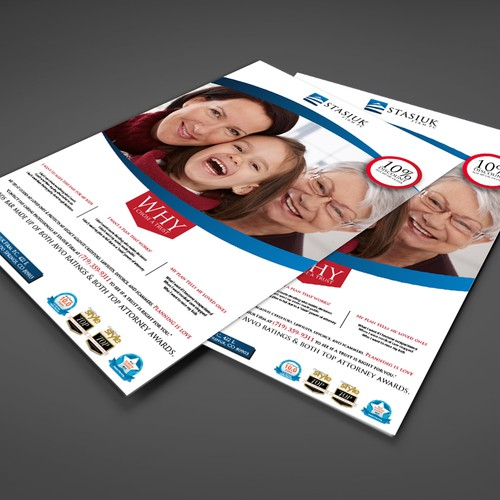 Full page ad for family protection via estate planning (sample copy/image incl)