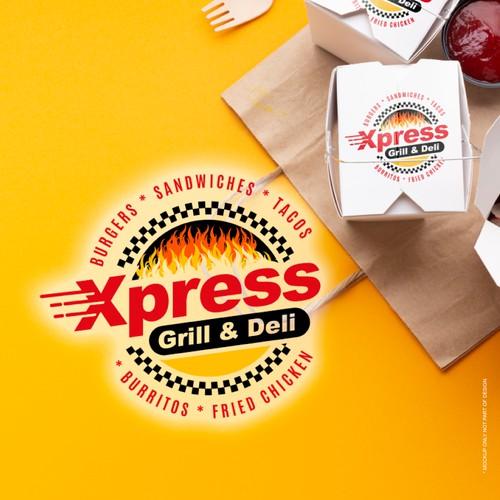Grill and  Deli logo branding