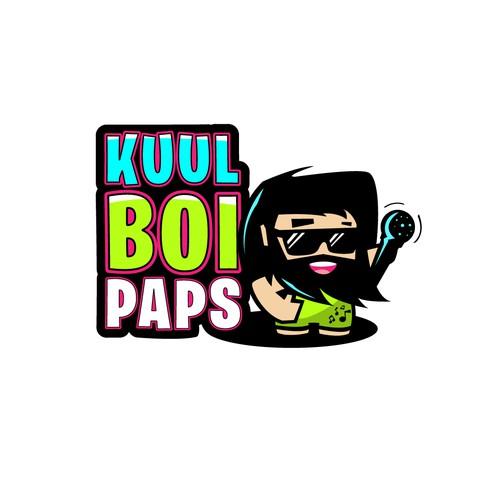 Playful logo for kids rap music creator.