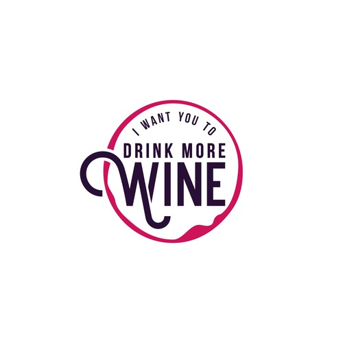 "Logo concept for ""I Want You To Drink More Wine"""