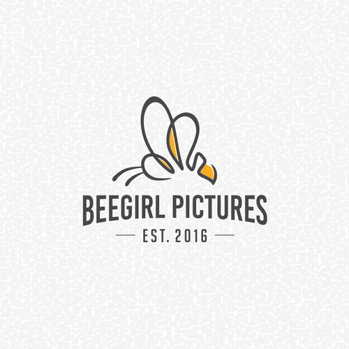 Minimalist and mature Bee Logo for BeeGirl Pictures, a film production company