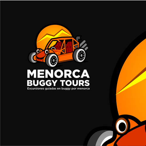 Fun Illustration concept for Buggy Tours
