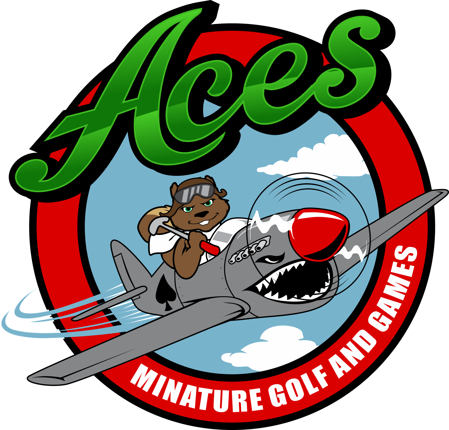 Create the next logo for ACES Miniature Golf and Games