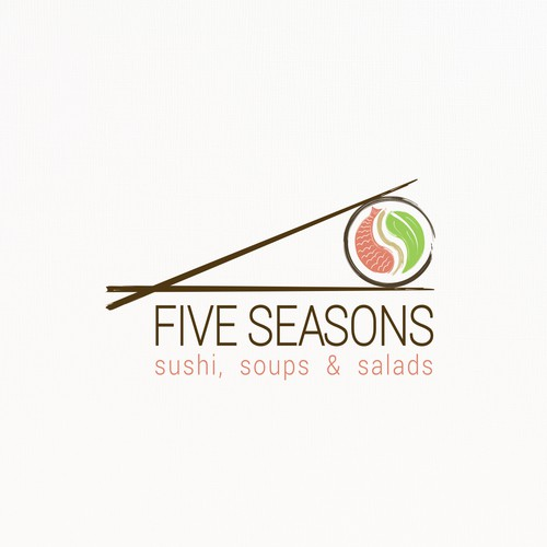 Organic Logo Design for Sushi & Vegan Restaurant