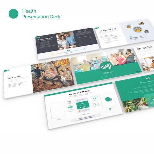 Clean Presentation Templates for Health care company