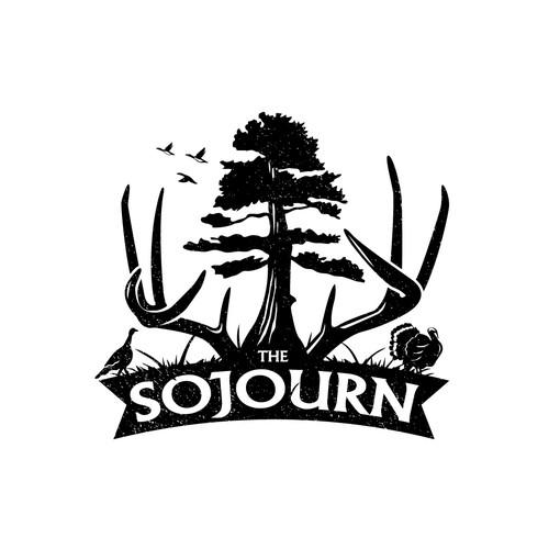 Vintage logo for family's hunting farm