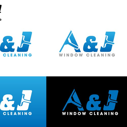 Create the next Logo Design for A & J Window Cleaning