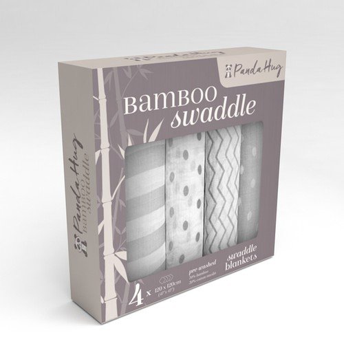package design for bamboo swaddle blankets