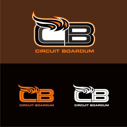 Bold logo concept for circuit boardum