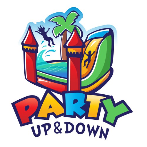 Inflatable bounce house logo
