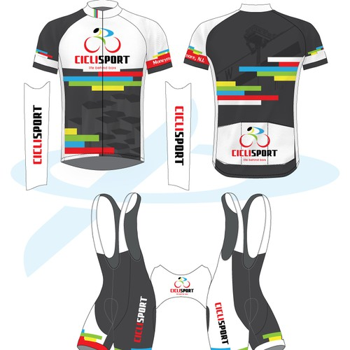 Edgy jersey design for one of Ireland's premier bicycle shops