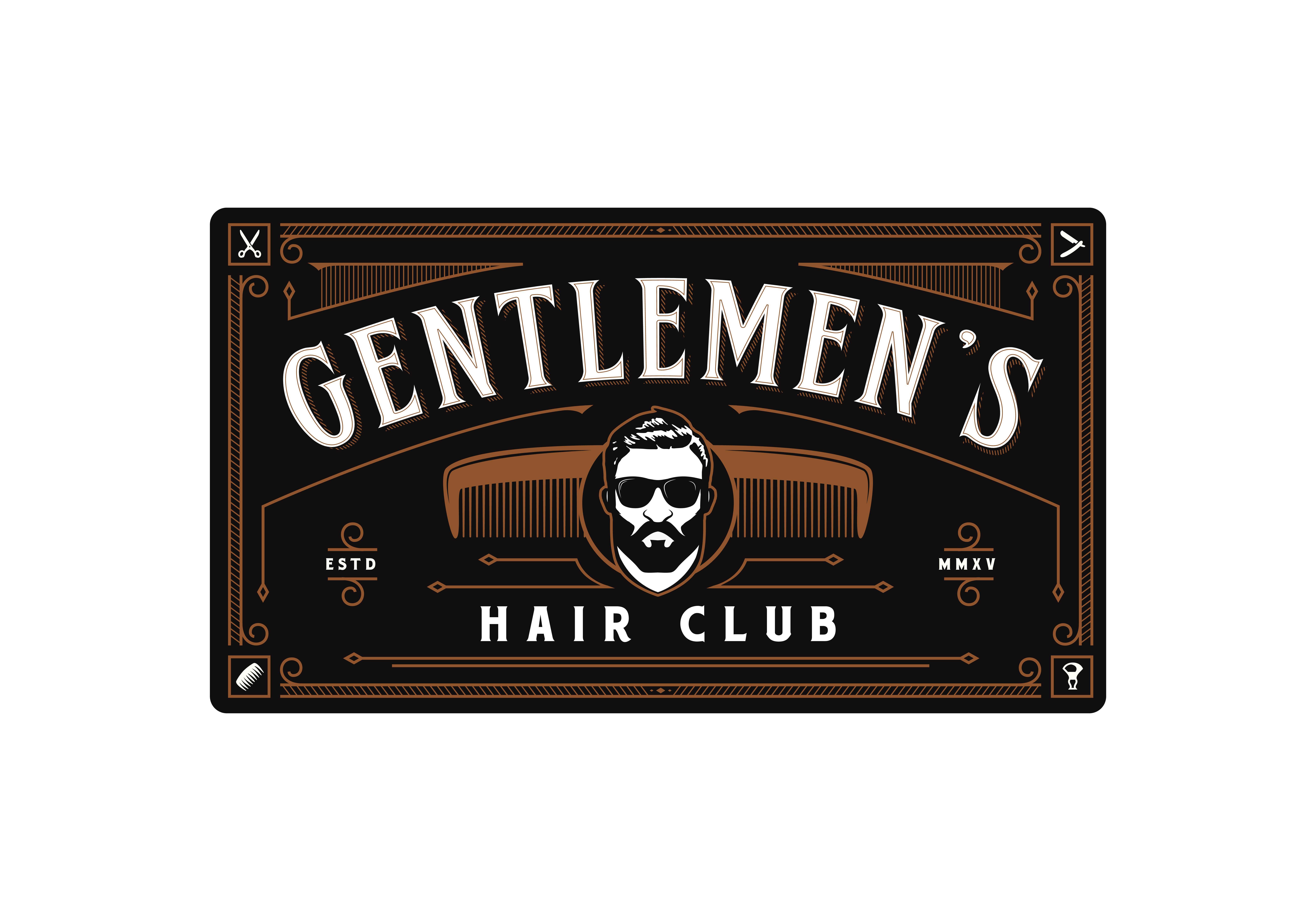 Create a beautiful yet masculine illustration for Gents