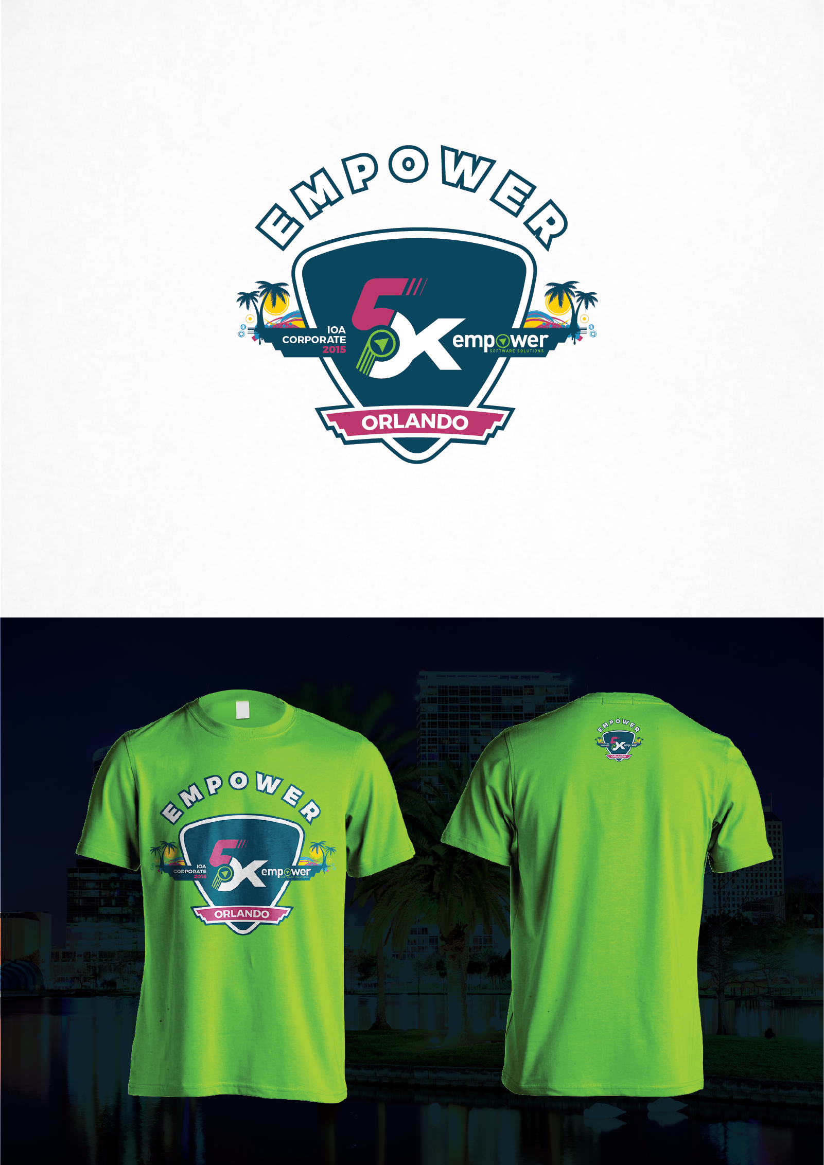Create a contest-winning corporate 5K T-shirt for our employee team!
