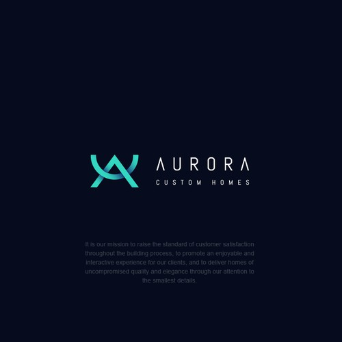 Creative logo for AURORA CUSTOM HOMES