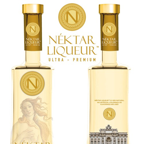 Logo and Label design for Nektar Liqueur Ultra Premium.