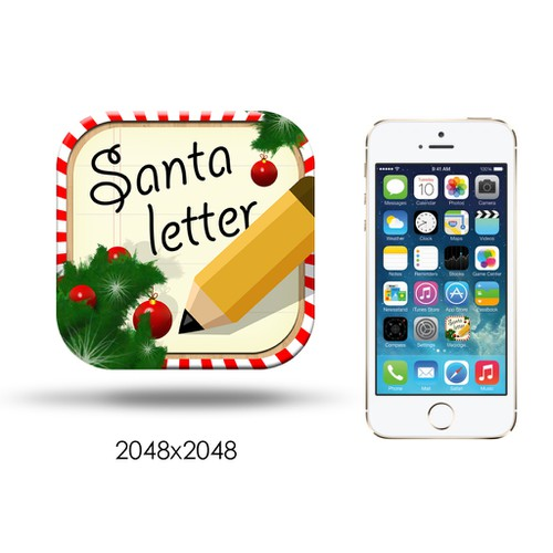 "Icon Design for up coming Christmas App ""Messages from Santa"""